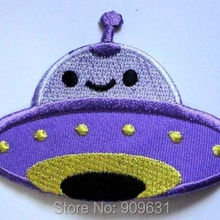 Симпатичные Красивые фиолетовые НЛО пришельцы вышитые железа на патч