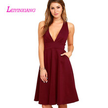 LEIYINXIANG Elegant New Arrival Evening Dresses Sexy Robe de Soiree Luxury A Line Backless Lace V-Neck Sleeveless Custom Fit