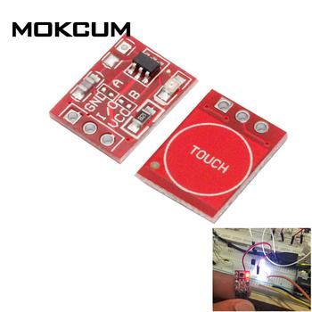 10 sztuk TTP223 klawisz dotykowy moduł przełączający przycisk dotykowy przełączniki pojemnościowe samoblokujące bez blokowania pojemnościowe przełączniki dotykowe tanie i dobre opinie CN (pochodzenie) Self-Locking No-Locking Capacitive Touch Switches Z tworzywa sztucznego Dotykowy włącznik wyłącznik