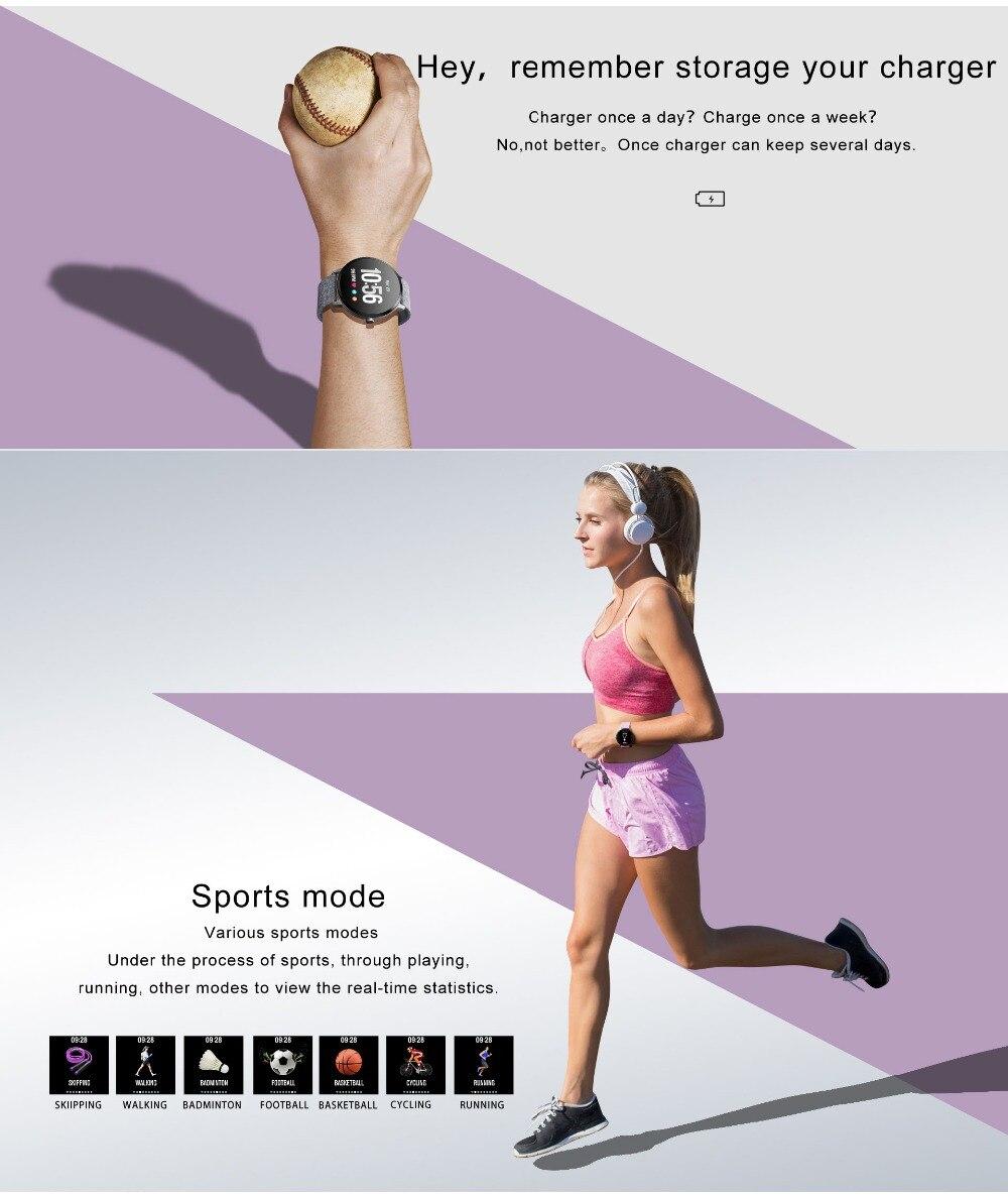 Fentorn V11 Smart watch IP67 waterproof Tempered glass Activity Fitness tracker Heart rate Blood Pressure Men women smartwatch 15