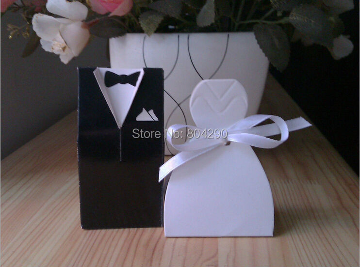 high quantity simple bridal gift cases groom tuxedo dress wedding supply and gift wedding candy box