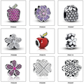 925 Sterling Silver Flowers Charms Fit Pandora Bracelet Necklace Original Bead Jewelry DIY Fashion Woman Gift Cheaper