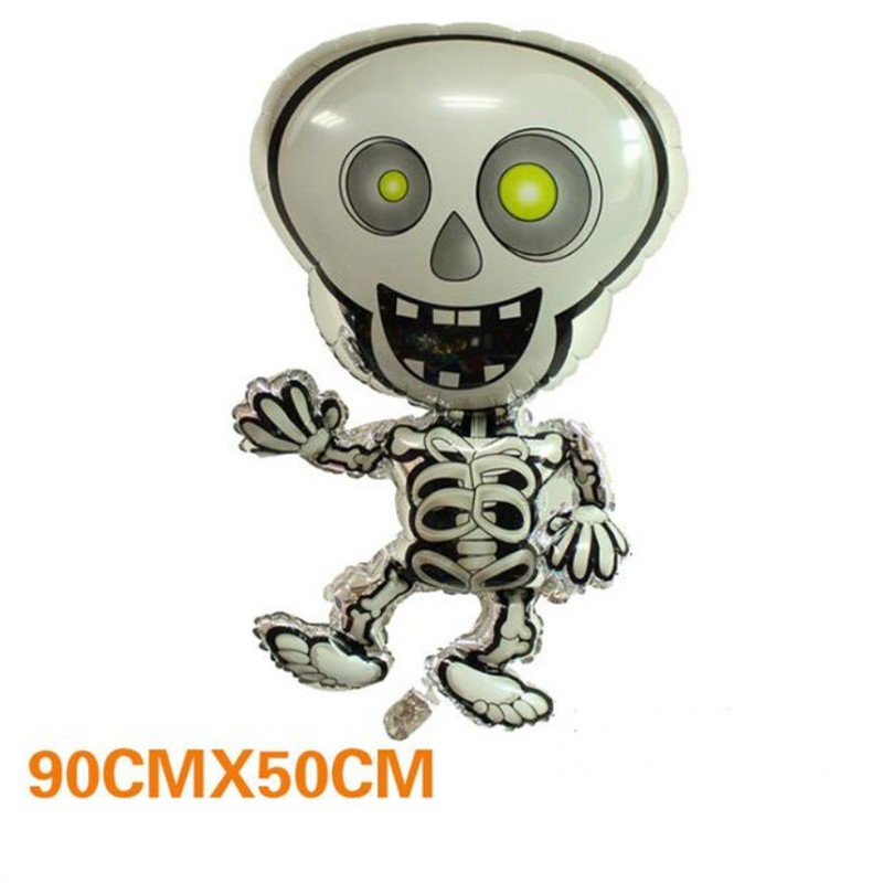 Easter ballons 1 pc witch shape foil balloons venue decorations Halloween balloon holiday inflatable ball kids toys hot sale in Ballons Accessories from Home Garden