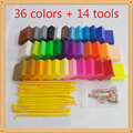 36 Colors sand Polymer Clay Modeling slime Baked Playdough With 14 Tools Colored Clay For Children Educational Kids Toys Gift