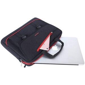 Image 2 - MOSISO Laptop omuzdan askili çanta 13.3 Inç su geçirmez defter macbook çantası Hava 13 Kılıf Yeni Pro 13 Bilgisayar Çanta Evrak Çantası Çanta