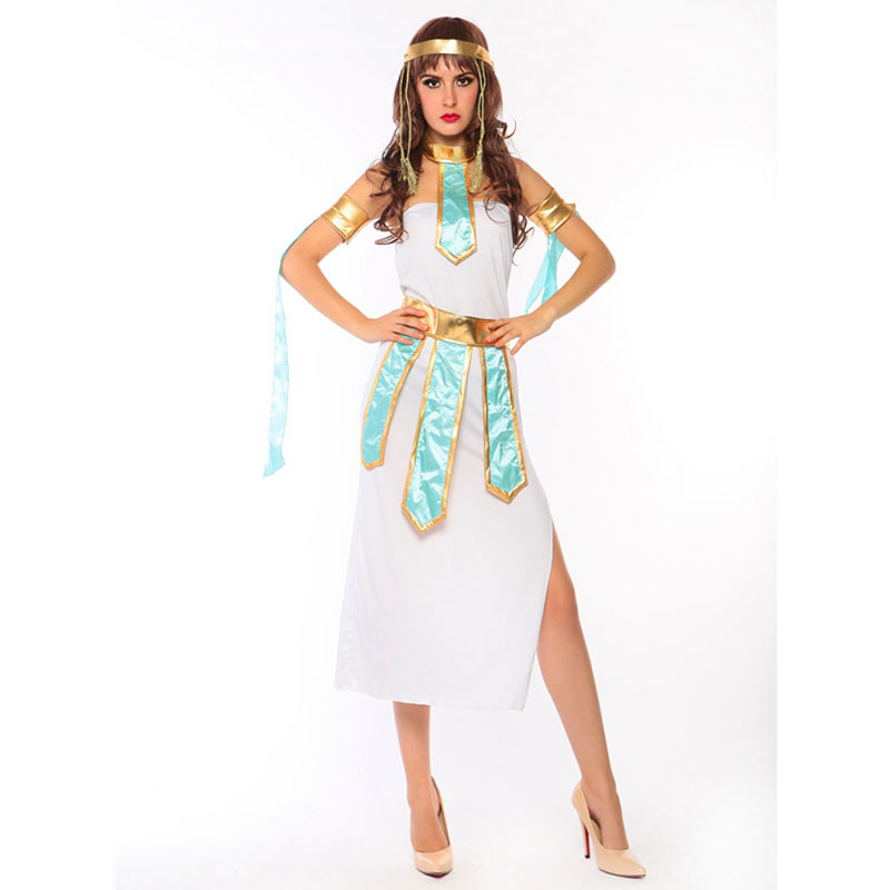 EGYPTIAN WOMAN ADULTS COSTUME QUEEN OF THE NILE CLEOPATRA HISTORICAL FANCY DRESS