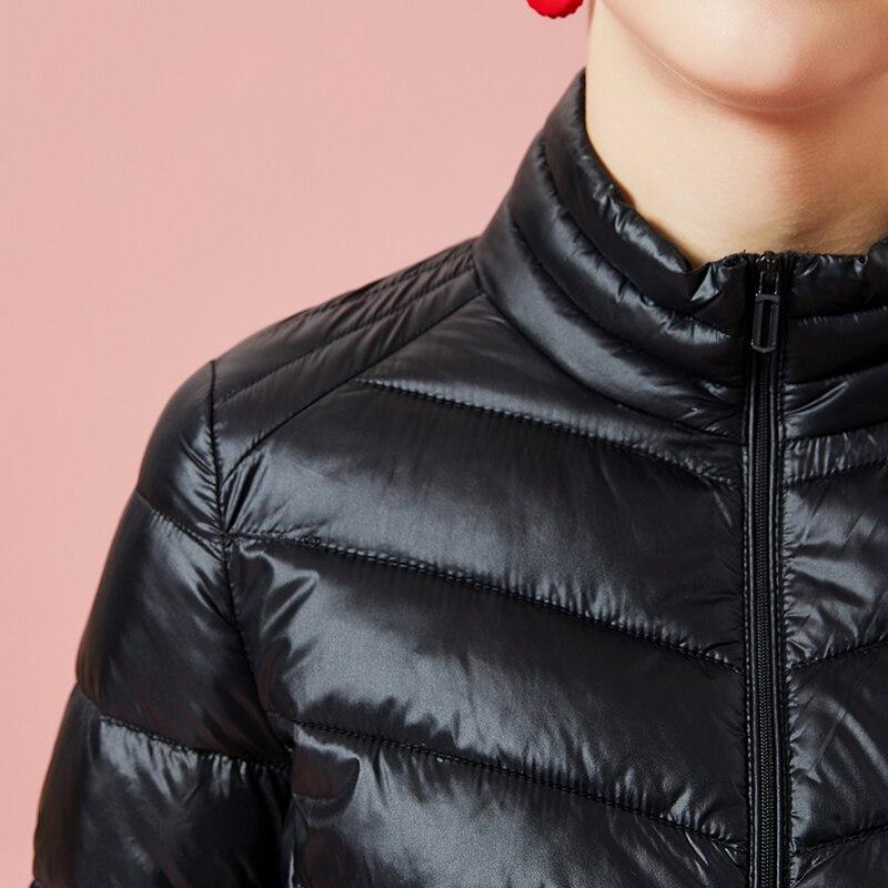 Slim Ciel Coton Lumière Court Neige Col Noir rose Pardessus Manteau Zipper Rembourré Montant Chaud Coréenne D'hiver Veste pu Ultra Noir Femmes Parka rouge 6wEqREPC
