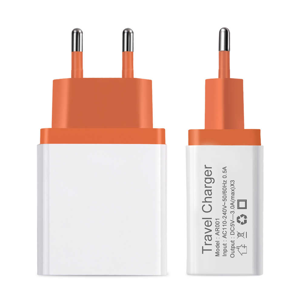 Cargador USB 5V 3A para huawei Xiaomi cargador de teléfono móvil viaje para Samsug s8 s9 s10 Plus huawei adaptador de pared USB para teléfono