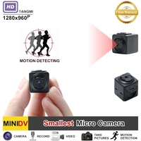 New 960P Super Small Mini Camera HD Camcorder Motion Detection Features Portable Action DV DVR Digital