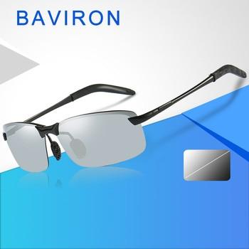 dbd394f908 Gafas de sol fotocromáticas BAVIRON hombre polarizadas día noche cambio de  Color gafas de sol hombre uva uvb clásico gafas de sol conducción Vintage