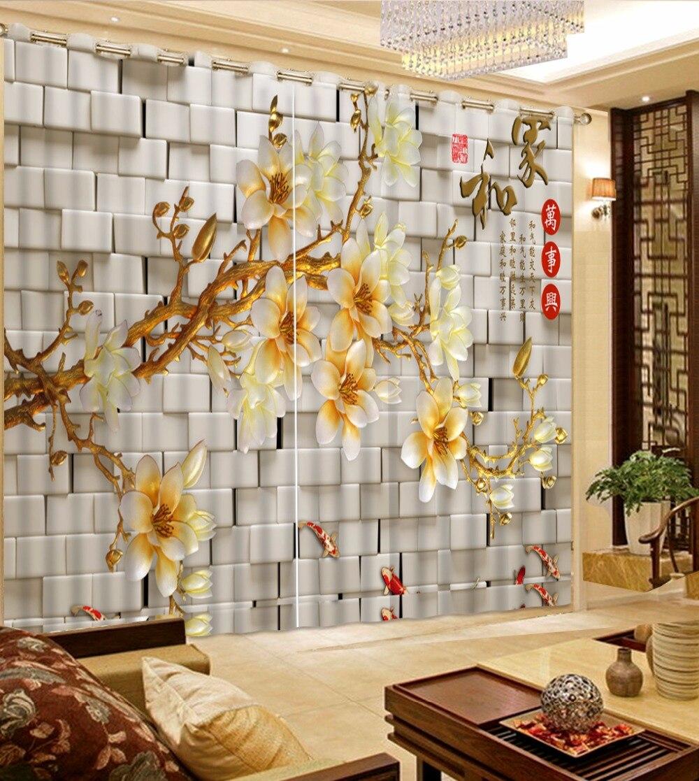 European Luxury Bedroom: European Luxury Window Bedroom Curtains Photo Blackout