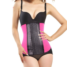 Waist Trainer corsets and bustiers latex waist cincher black steel boned corset underbust slimming belt shapewear Plus Size