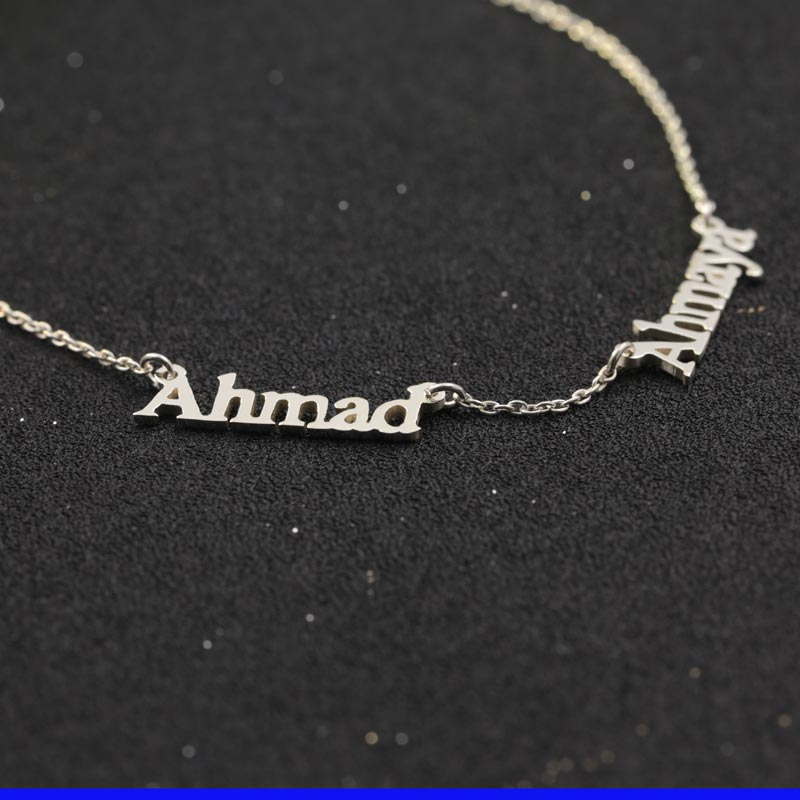 double necklaces name v personalized attract in two necklace family nameplate pendants item bar from chain customised jewelry pendant choker sideway