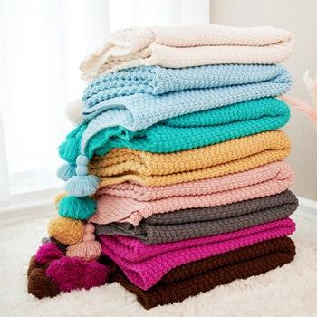 Knitted Blanket Bedroom Blankets Departments Living Room Outdoor Rooms