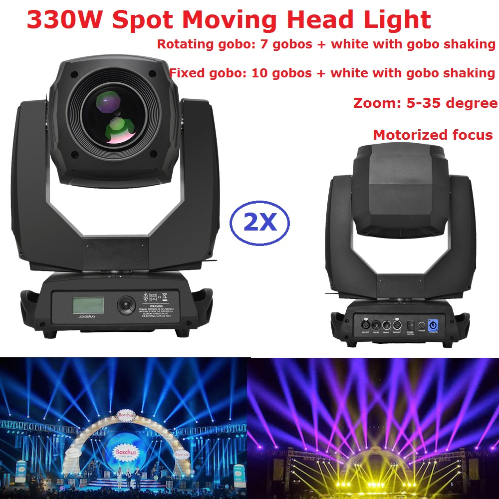 2xLot Led Moving Head Spot Lights 330W Led Lamp High Power Professional LED Moving Head Light LCD Display 5-35 Motorized Focus 2xlot led moving head spot lights 330w led lamp high power professional led moving head light lcd display 5 35 motorized focus