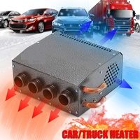 12V Car 4 Hole Air Heater DC Automatic Heating Warmer Low Noise Vehicle Window Glass Defroster Demisterfor Home Bus Car