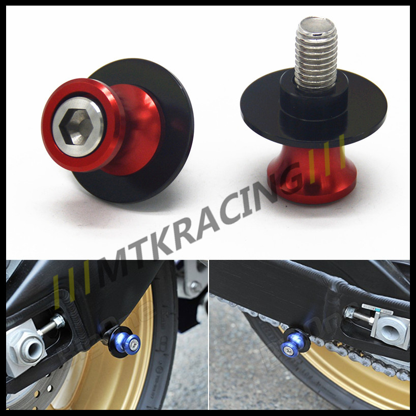 Free delivery 6mm Motorcycle CNC Swingarm Sliders Spools Paddock Stand Bobbins Swing Arm For Yamaha MT-10 FZ-10 6mm swing arm spools sliders for yamaha r7 yzf r1 r6 r6s fz1 fz6 fz6r 8 colors