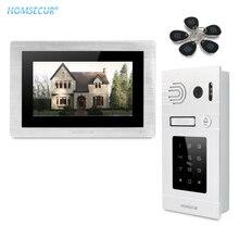 HOMSECUR 7 дюймовый проводной видеодомофон и аудио с RFID доступом для безопасности дома