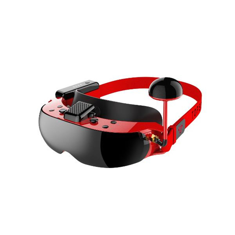 TOPSKY F7X 2D 3D 5.8G 40CH 16:9 FPV Goggles Video Glasses Headset With Battery Support DVR VS Eachine EV100 Fatshark Aomway in stock eachine ev800d 5 8g 40ch diversity fpv goggles 5 inch 800 480 video headset hd dvr build in battery vs fatshark aomway