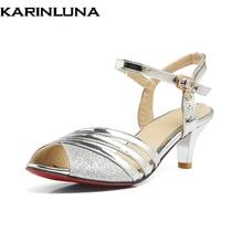 KARINLUNA 2018 Large Size 30-47 customization Latin shoes women sexy comfotable ankle strap party shoes sandals woman