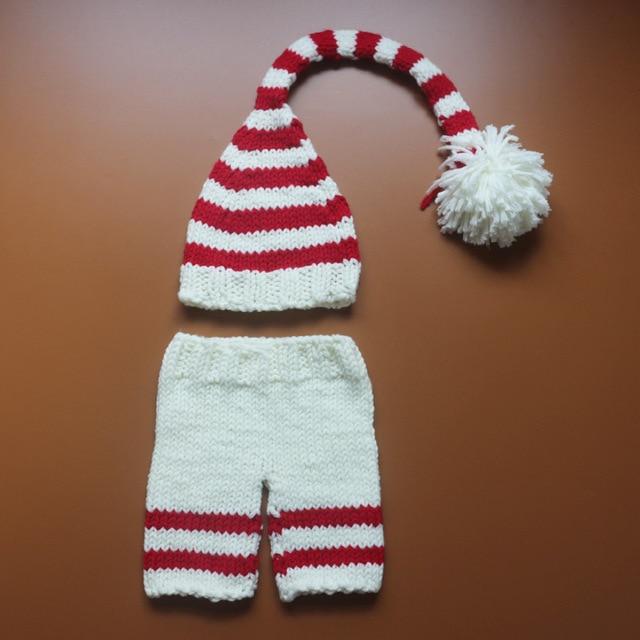 Neugeborenen fotografie häkeln gemütliche baby rot weiß gestreifte ...