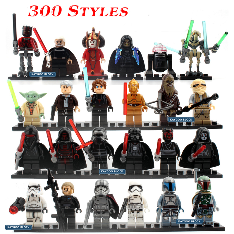 Single Sale Star Series Spcae Wars 8 Last Jedi Force Awakens Yoda DIY Building Blocks Bricks Figures Compatible LegoINGlys Gift(China)