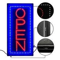 New Advertising Light High Bright Neon OPEN Sign Flashing Lamp Door Signature For Restaurant Coffee Shop Bar Club Barbershop
