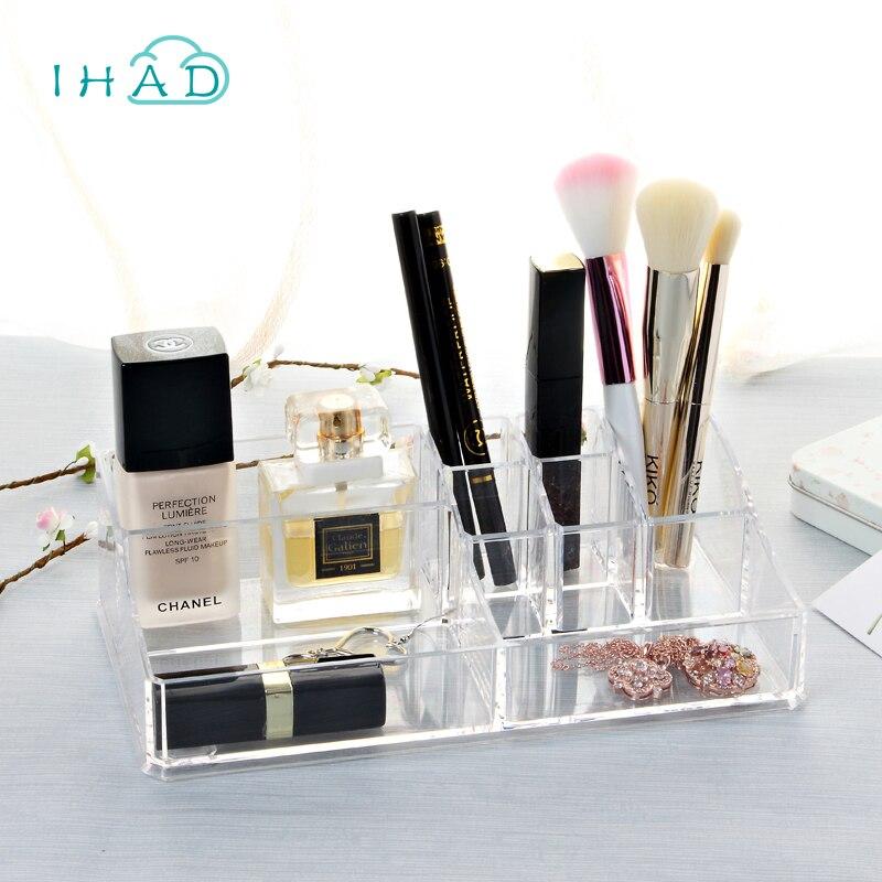 Crystal Acrylic makeup Organizer bathroom box Makeup case for woman jewelry box Cosmetic organizador pen box for office