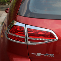 Car Styling Accessories for Volkswagen Vw Golf 7 2014 2015 Mk7 Taillight Cover ABS Chrome Rear Tail Light Lamp Cover 4pcs/set