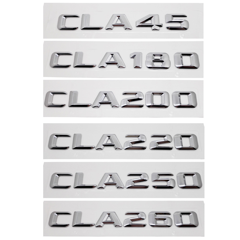 Auto Sticker for Mercedes-benz CLA Class 45 220 260 Benz AMG CLA180 CLA200 <font><b>CLA250</b></font> W205 W177 W176 W168 Rear Decal Metal Badge image