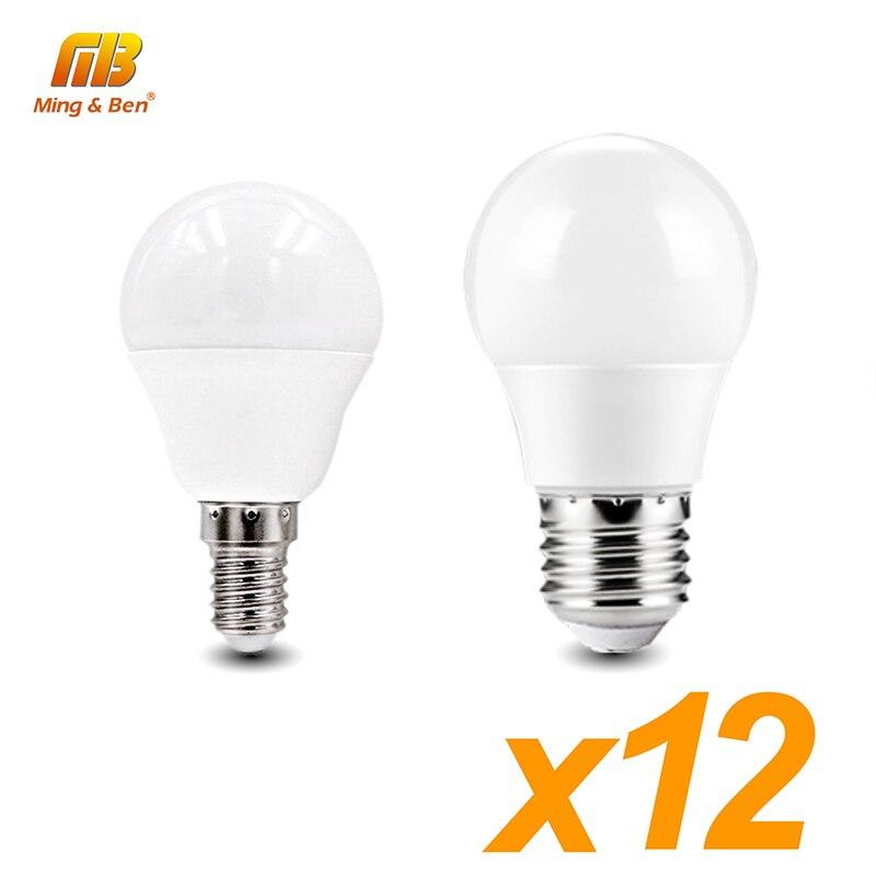 LED 12 stk. Lamper AC220V 230 IN LED E14 lampe E27 smart ic lampe 18 W 15 W 12 W 9 W 7 W 5 W 3 W varm kulde