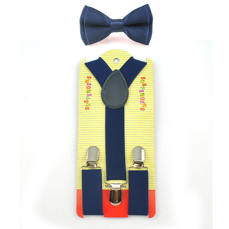 2016 Navy Blue Kids Boy Girls Suspenders With Adjustable Elastic Braces Children Clothing Accessories 22 Colors Free Shipping