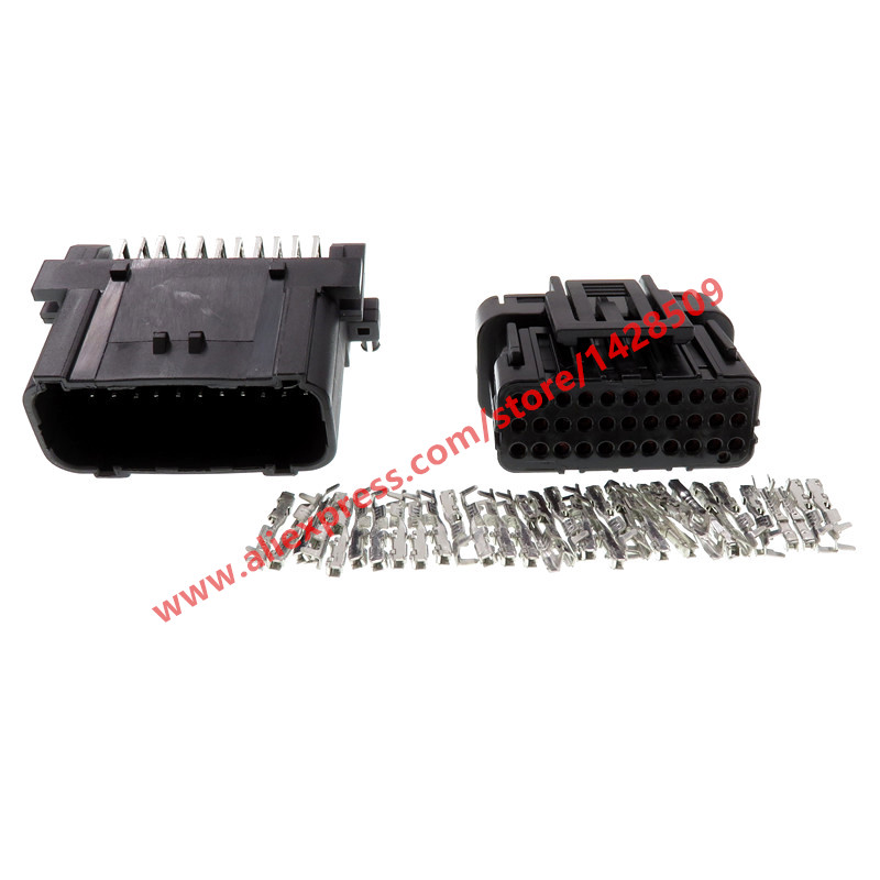 20 Sets 33 Pin Automotive ECU Module Socket Female Male Auto Plug