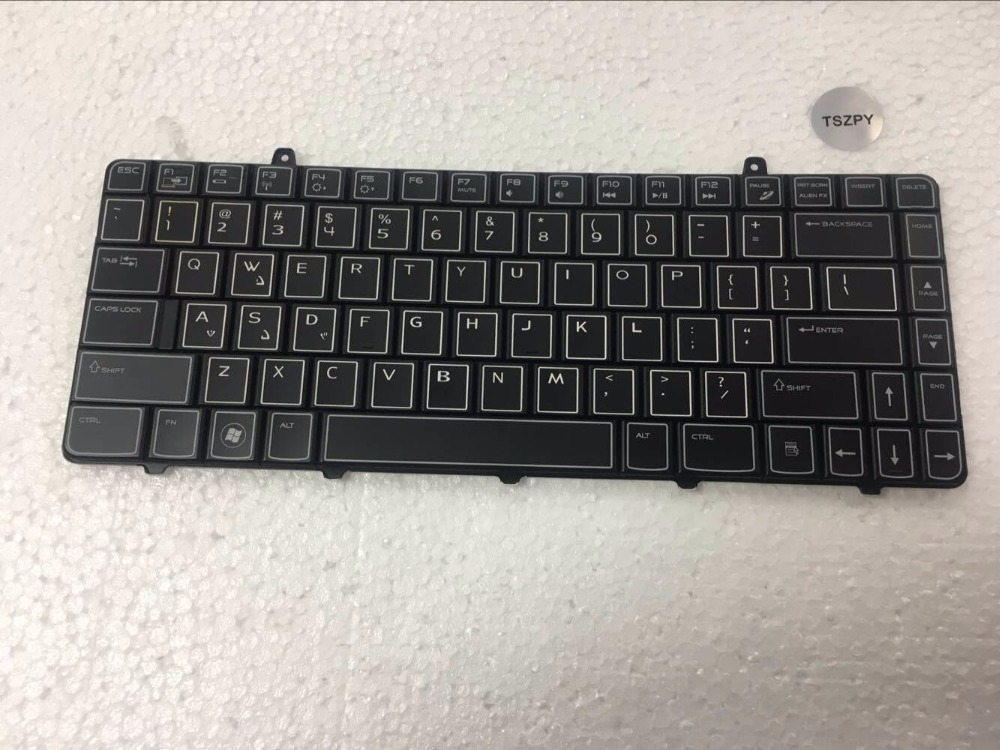 Laptop Keyboard For Dell Alienware M11X R2 M11X R3 replacement keyboard US Layout With backlit and black color willettt 460 keyboard display black color