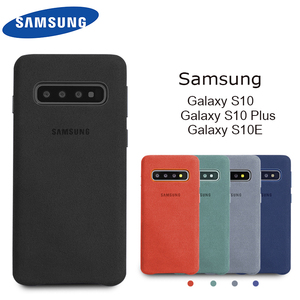 Image 1 - Samsung S10e Cover Official Original Genuine Suede Leather Back Case For Samsung Galaxy S10 Plus Case Protector Cover