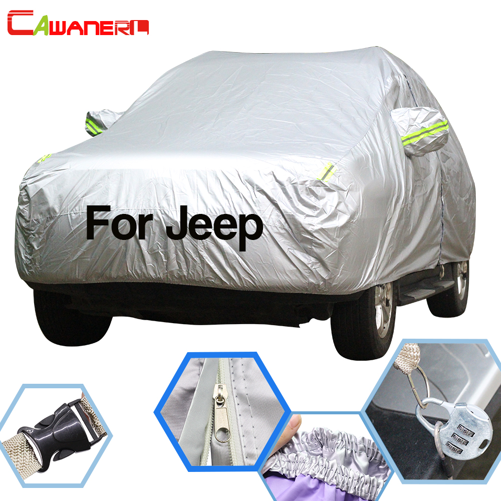 Cawanerl For Jeep Wrangler Compass Commander Liberty Grand Cherokee Patriot Car Cover Sun Snow Rain Protector