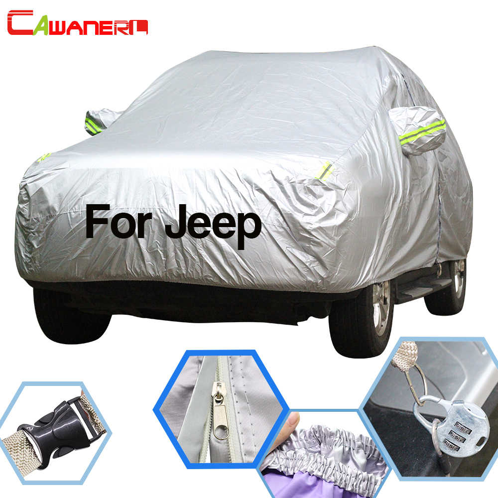 Cawanerl para Jeep Wrangler Commander Liberty Grand cheroki Patriot cubierta de coche sol nieve lluvia Protector cubierta impermeable