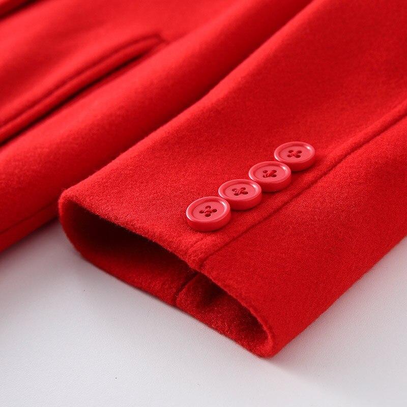 Longue Abrigos Red Invierno Outwear Plus 5xl Mode 2018 Rouge Coréen La Ayunsue Laine Femelle Manteau Style De 4xl Kj200 Taille Femmes Mujer gUwqza4U