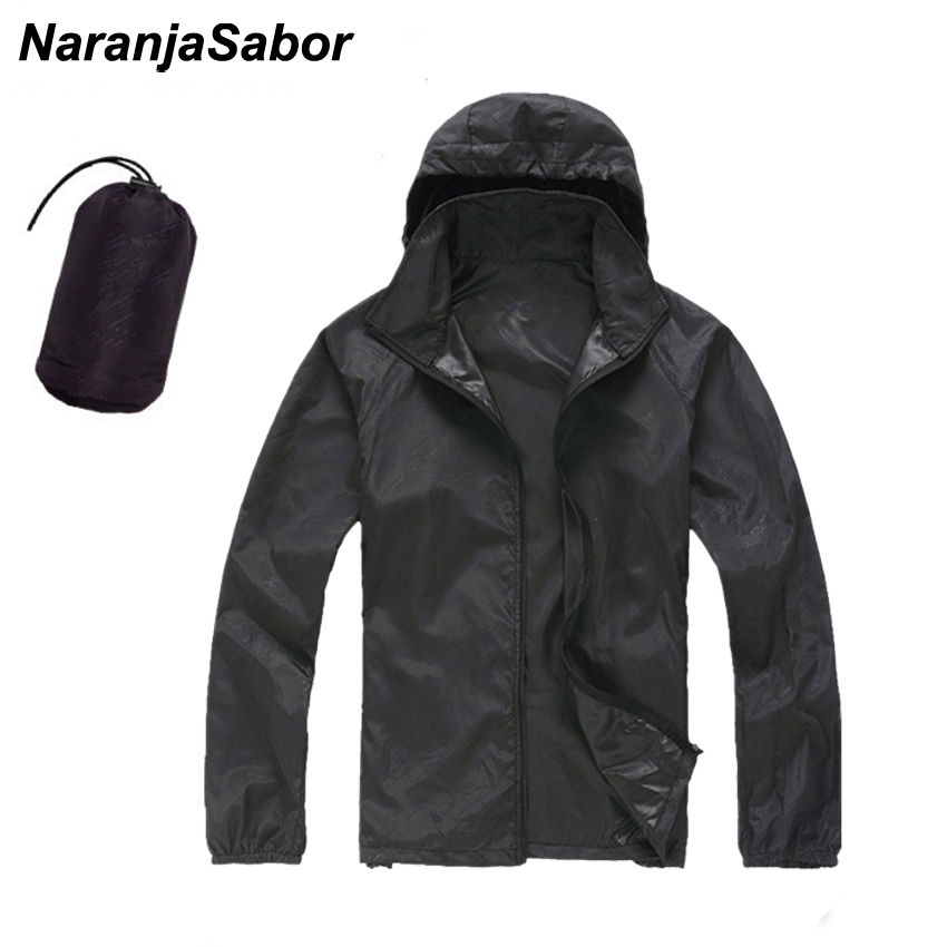 NaranjaSabor 2020 Men's Quick Dry Skin Jackets Women Coats Ultra-Light Casual Windbreaker Windproof Men Brand Clothing 15 Colors