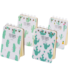 1pcs/lot Lovely Small Fresh Literary Cactus Loose-leaf Coil Diary Planner For School Supplies Stationery Gift