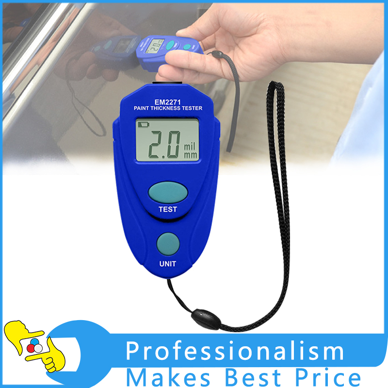 EM2271 Digital LCD Car Painting Thickness Meter Car Auto Coating Thickness Gauge digital film coating thickness gauge mini ultrasonic automotive lcd car coat painting thickness tester width measure meter gm200