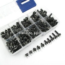 10 models 200pcs 6*6 Tact Switch Tactile Push Button Switch Kit, Height: 4.3MM~13MM DIP 4P micro switch 6x6 Key switch