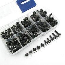 Kit de commutateur Tactile à bouton poussoir, 200 pièces, 6x6, bouton, à immersion 4P, 10 modèles, hauteur: 4.3 13MM