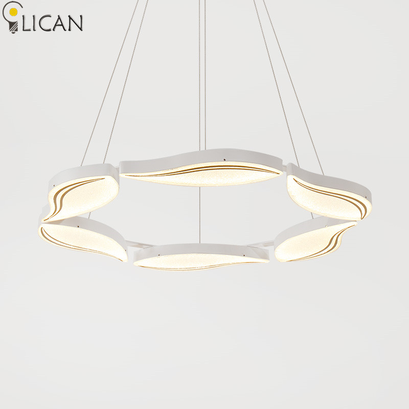 LICAN Round Hanging Pendant Lights for Living Dining room Office hanging Pendant Lamp 6 heads Dimmable White light fixtures LED a1 master bedroom living room lamp crystal pendant lights dining room lamp european style dual use fashion pendant lamps