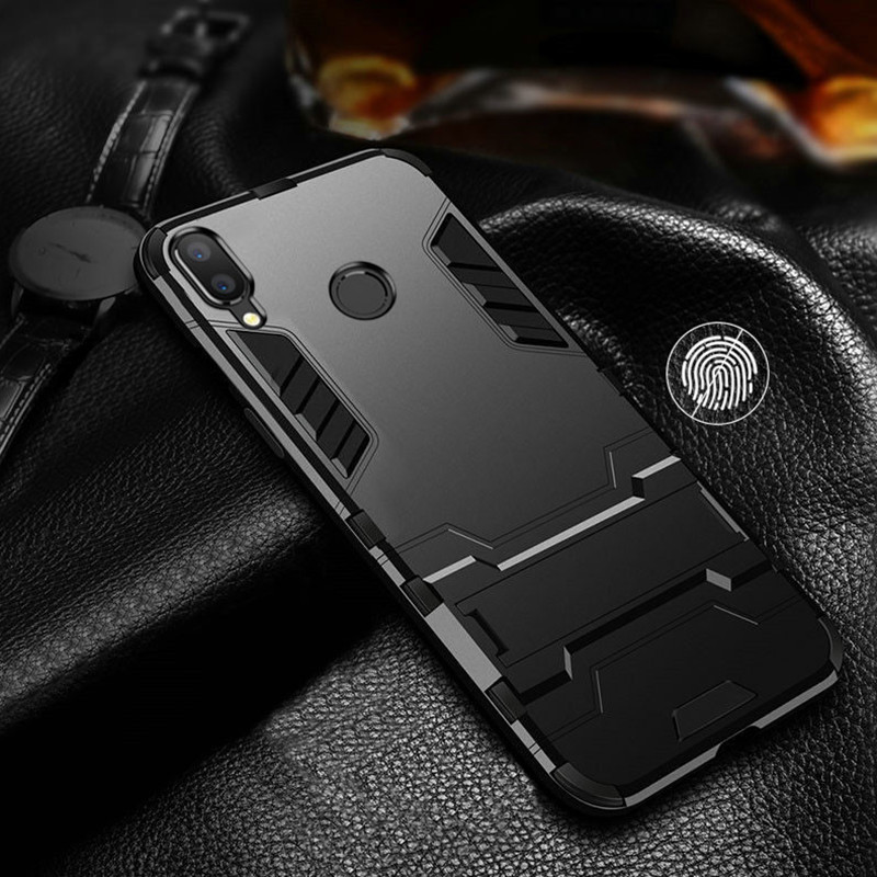 For Xiaomi Redmi Note 7 Case Luxury Hybrid Hard PC+TPU Rugged Armor Phone Case For Redmi Note 5 Pro Shockproof With Stand Cover