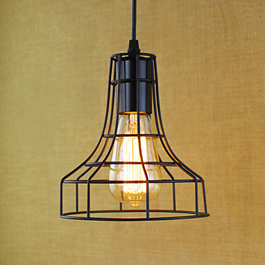 Edison Loft Style Iron Net Droplight Industrial Vintage Pendant Light Fixtures For Dining Room Hanging Lamp Lamparas Colgantes america country led pendant light fixtures in style loft industrial lamp for bar balcony handlampen lamparas colgantes