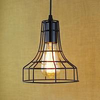 Loft Edison stylu żelaza netto Droplight przemysłowych rocznika wisiorek oprawy oświetleniowe do jadalni lampy wiszące Lamparas Colgantes w Wiszące lampki od Lampy i oświetlenie na