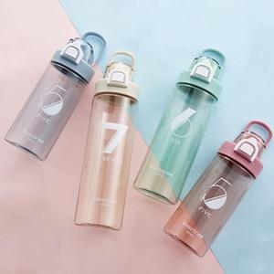 Image 1 - Спортивная бутылка 500 мл герметичная Спортивная фляжка для воды высокого качества для путешествий, прогулок, похода, бега, портативные бутылки