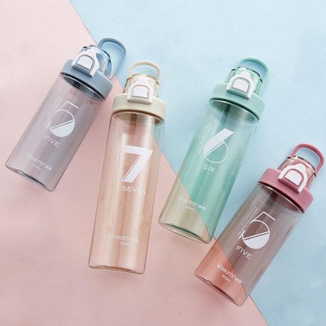 Спортивная бутылка 500 мл герметичная Спортивная фляжка для воды высокого качества для путешествий, прогулок, похода, бега, портативные бутылки