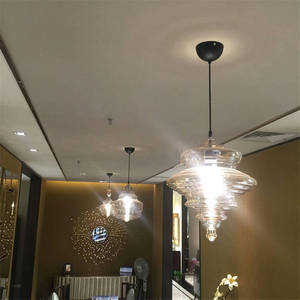 Image 4 - Lampe led suspendue en verre en forme de gourde, design nordique, luminaire décoratif dintérieur, idéal pour un loft, un salon, une salle à manger ou une cuisine
